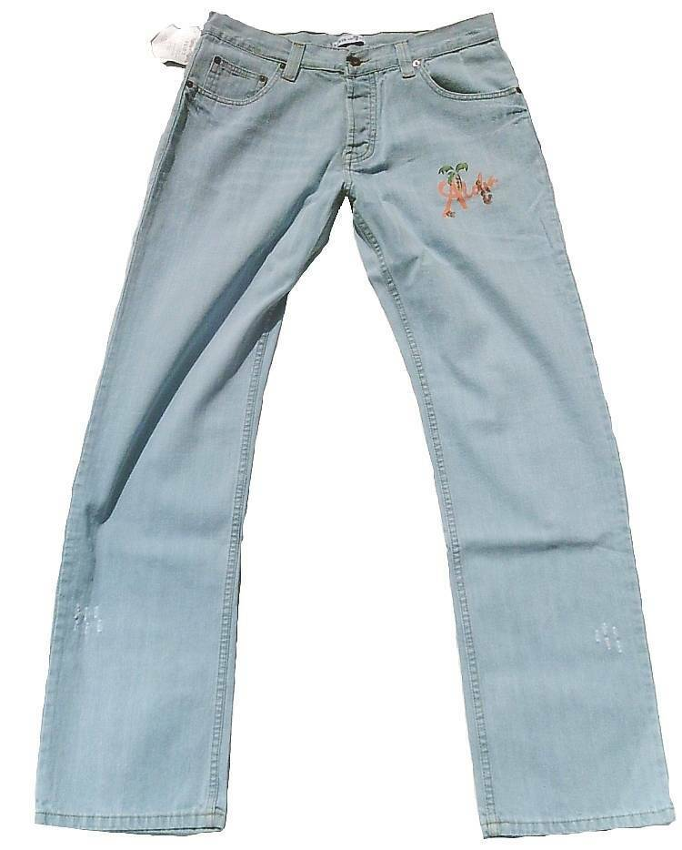 David 7 Aloha Whykiki Tiki Dj Skull Hawai Beach Club Star Jeans W33 L32 33 32
