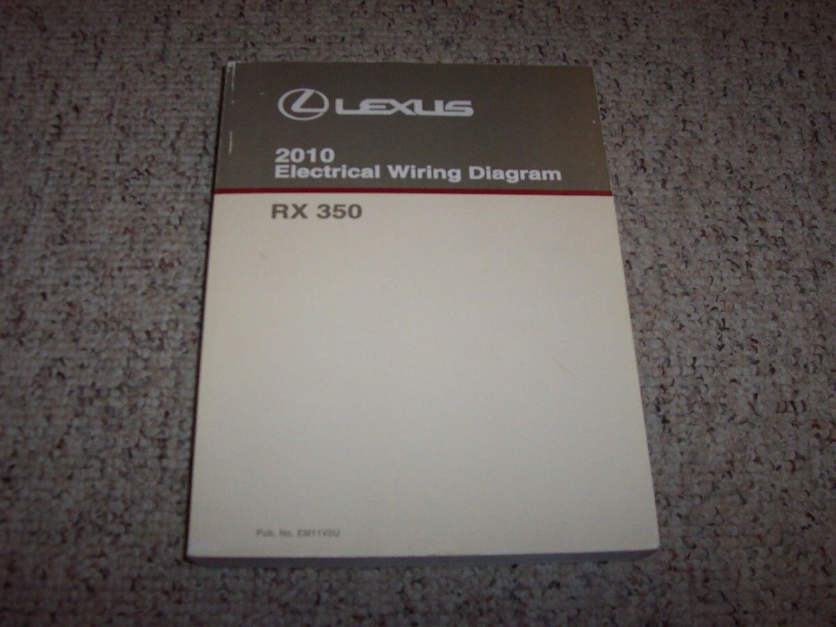 Admirable 2010 Lexus Rx350 Rx 350 Factory Original Wiring Diagram Manual Book Wiring Digital Resources Biosshebarightsorg