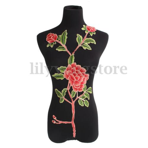 Flower Neck Collar Sewing Applique Badge Patch Embroidered for Dress Clothes