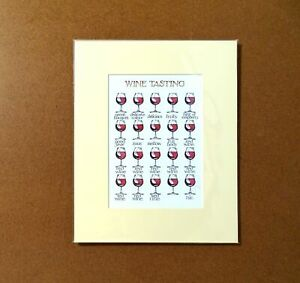 Wine-Tasting-Simon-Drew-Mounted-Print-Matted-Signed-Entertaining-Art