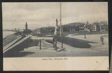 Postcard MILWAUKEE Wisconsin/WI  Juneau Park Civil War Cannon view 1906