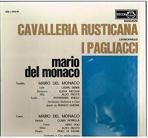 Leoncavallo : I Pagliacci; Mascagni : Cavalleria Rusticana / Del Monaco - LP
