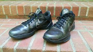 Nike-Zoom-Kobe-V-5-Blackout-Black-Silver-Wolf-Grey-386429-003-Mens-11-Protro