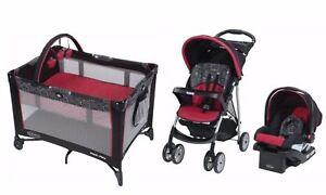 Baby Stroller Car Seat Infant Playard Crib Travel System Combo Set Graco