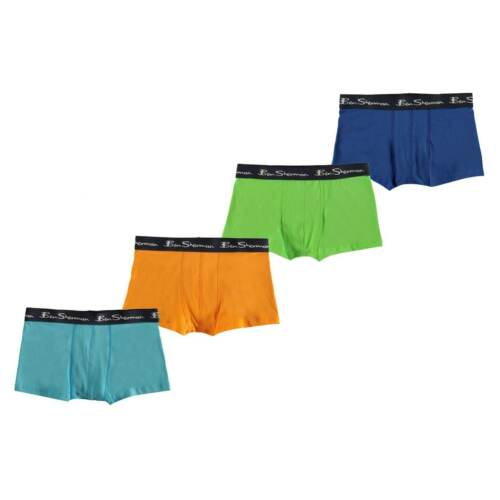 Ben Sherman Kids Trunks Boxers Underwear Elastic Logo Waistband Pack Of 4