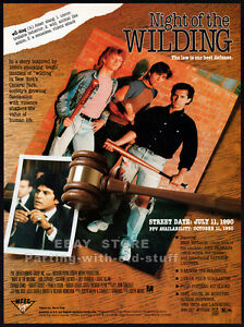 NIGHT-OF-THE-WILDING-Original-1990-Trade-print-AD-ERIK-ESTRADA-CAROL-CUMMINGS