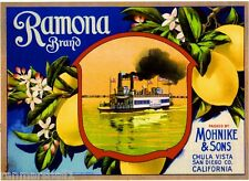 Chula Vista San Diego County Gilt-edge Orange Citrus Fruit Crate Label Art Print