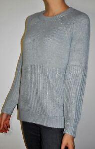 Details about NEW Banana Republic Small Oversized Long Light Blue Knit Sweater Italian Yarn
