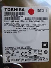 Toshiba DT01ACA200   AAA AA00 / BB0   DEC-2013   2 TB  #05