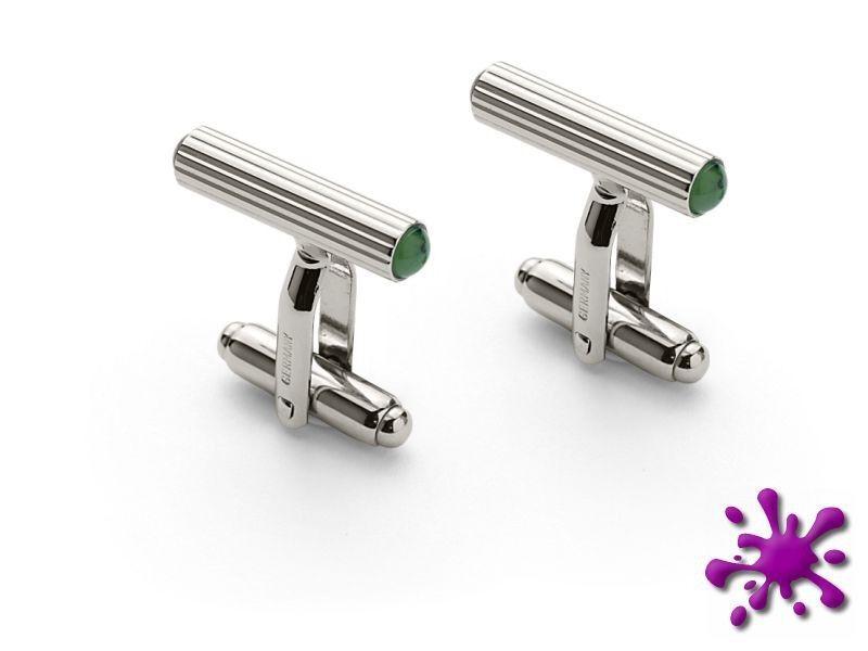 Manschettenknopf Graf von Faber Castell Riegel, Jade platiniert   | Sale Online Shop