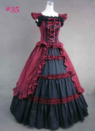 Medieval Victorian Vintage Lolita Dress Wedding Gown Halloween Costume Fancy Lot