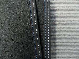 $$$ Lengenfelder Fußmatten Passend Für Bmw I3 I3 Neu Doppelnaht Blau Maß