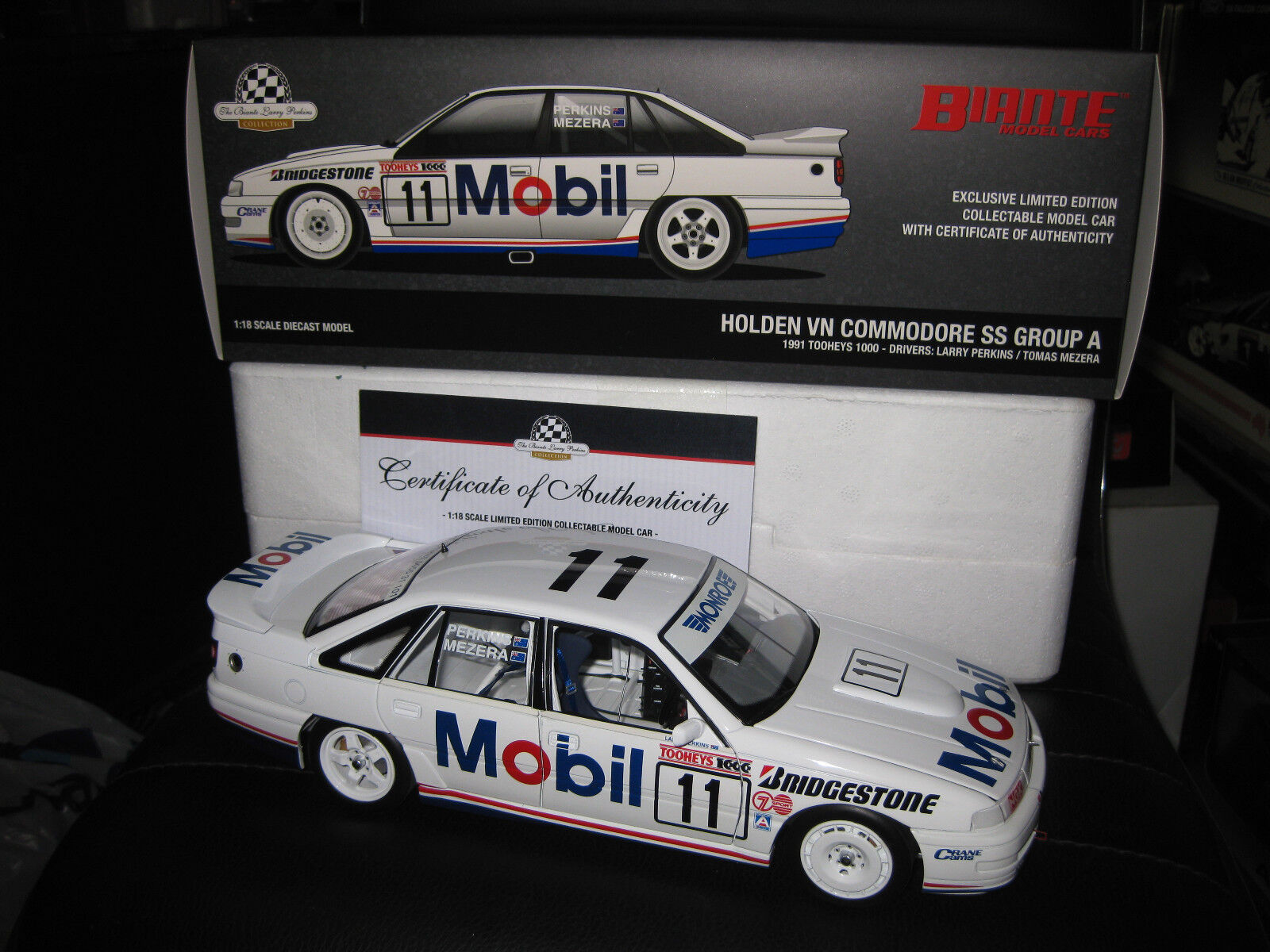 BIANTE 1.18 HOLDEN VN COMMODORE SS GROUP A 1991 BATHURST 11 PERKINS MEZERA