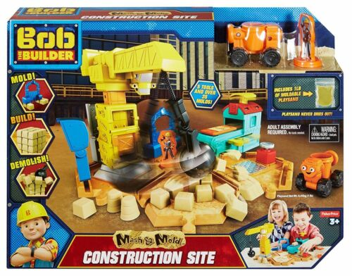Bob the Builder DMM55 Mash and Mould Construction Site Playset New Fisher Price