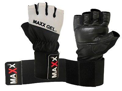Schnelle Lieferung New Gel Leather Weight Lifting Body Building Gloves Gym Straps Bar Training Bag GläNzend