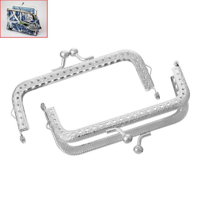 1PC Metal Purse Bag Frame Kiss Clasp Arch Silver Tone 10.7cm x 5.8cm