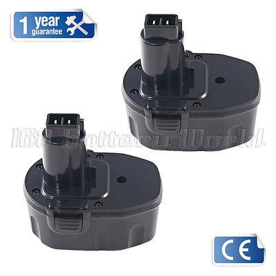 2xbattery for Dewalt 14.4V DE9038 DC9091 DE9092 2.0AH DC615KA DC985VA DW966K-2