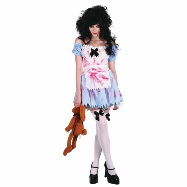 Ladies Zombie Girl Costume For Halloween Living Dead Fancy Dress Outfit Adult   Acquisti Online Su