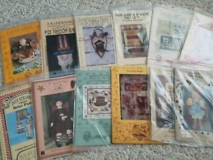 Primitive-amp-Country-Folk-Art-Quilt-Sewing-Woodworking-Craft-Patterns-FLAT-SHIP