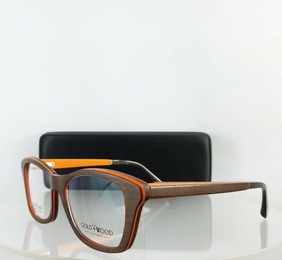 1867f0d1dc32 Authentic Gold and Wood Electra 02 52mm Brown Orange Frame for sale ...