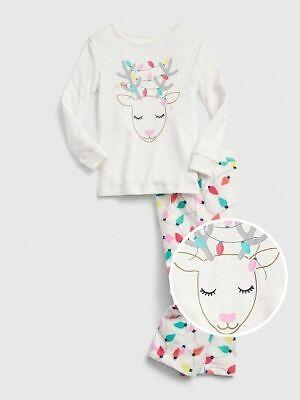 NWT Baby Gap Cat Kitty Print Short Pajamas PJs 2PC Baby Toddler Girl