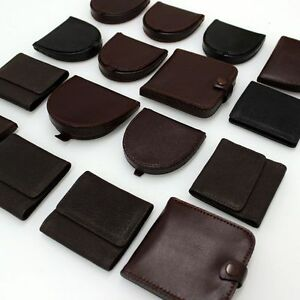 Portamonete-Pelle-Uomo-Donna-Borsellino-Portafogli-G001-Modelli-diversi