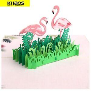 New-3D-Pop-Up-Love-Greeting-Card-Valentine-Christmas-Birthday-Card-Flamingo