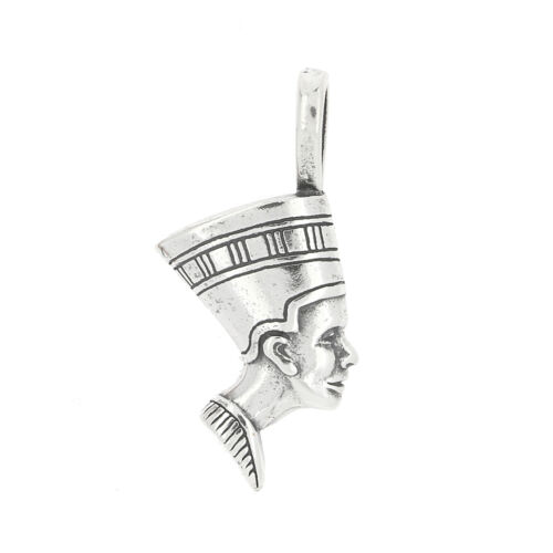 Sterling Silver One Sided Grand Royal épouse Nefertiti Charme Pendentif