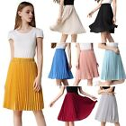 Women Lady Pleated Layer Chiffon Skirt Elastic Maxi Dress Waist Skirt 8 Colors