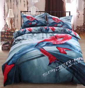 Copripiumino Spiderman.Spiderman Set Bed Cover Duvet Duvet Cover Sheet Duvet Cover Set