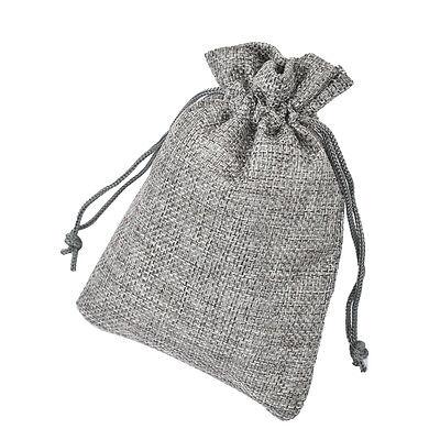 100Pcs 10*15cm Burlap Hessian Mini Bags Drawstring Rustic Wedding Favor Gift