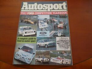 FORD-MOTORSPORT-1983-GUIDE-FORD-COMPETITION-YEARBOOK-AUTOSPORT-SUPPLEMENT-LOOK