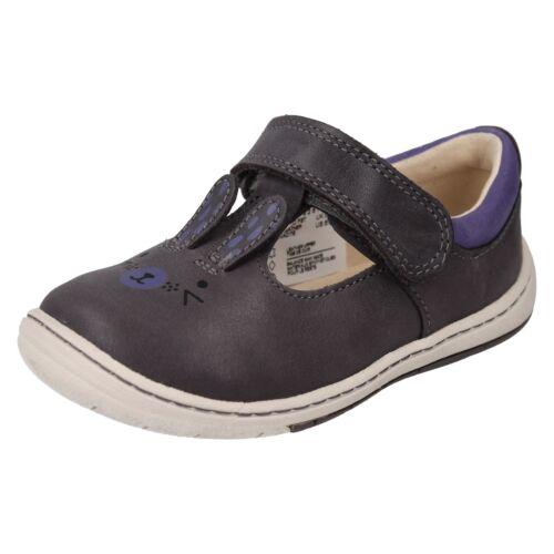 Glo Amelio T Girls Correa Casual cuero Fst Antracita Bar Conejito Zapatos Clarks Riptape de wfdEqtnfF