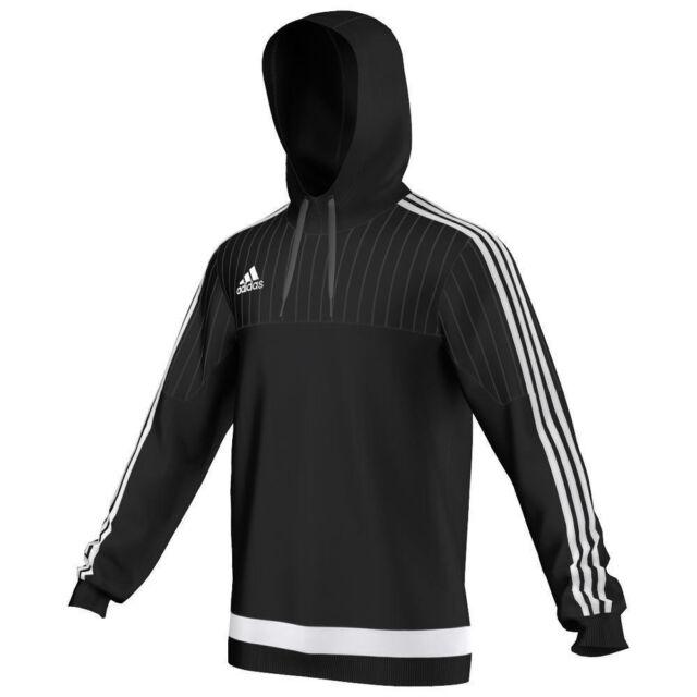 d8b84c0bb adidas Football Men Soccer Tiro 15 Hooded Top Adult Black White ...