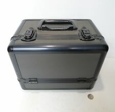 Large MAC Makeup Pro Train Case Black & Charcoal M.A.C. Cosmetics 3 shelves bin