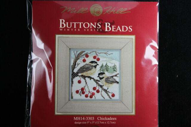 Mill Hill Buttons & Beads Winter Series 2013 Chickadees Counted Glass Bead Kit
