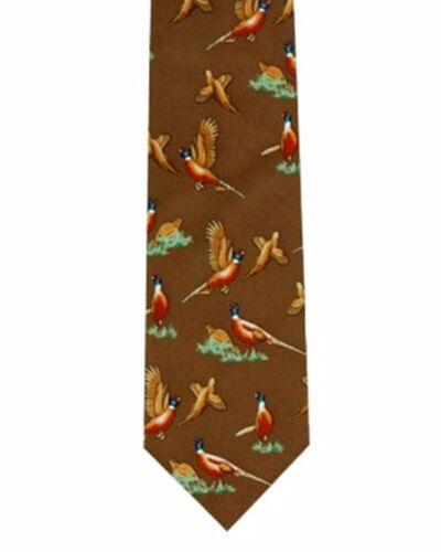 Faisan de tir cravate idéal jeu shooters cadeau brace de faisans sur marron