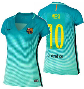 Image is loading NIKE-LIONEL-MESSI-FC-BARCELONA-WOMENS-THIRD-JERSEY- ddb41f5e73