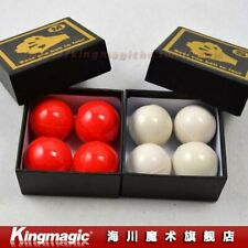 Large RUBBER RED PRO GORILLA GRIP MULTIPLYING BILLIARD BALLS Magic Trick Set 4