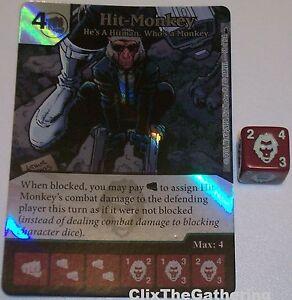 HE/'S A HITMAN 2 X HIT-MONKEY WHO/'S A MONKEY 58 Deadpool Dice Masters