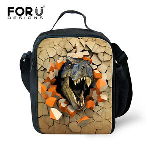 Image Is Loading Children Dinosaur Insulated Lunch Bags School Office