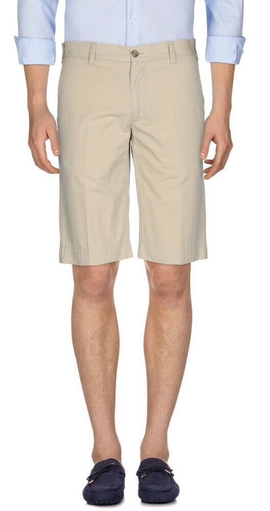 450  Canali Khaki Cotton Shorts Size US 32 or Made in
