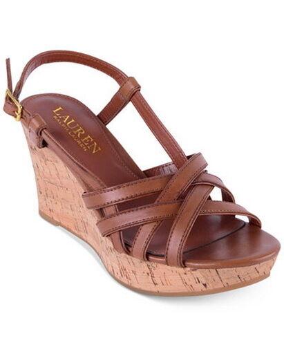 New New New Lauren Ralph Lauren Quaylin Wedge Sandals Sz 8.5US 39.5EUR,25.5cm 3874a3