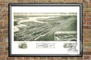 Old-Map-of-Margate-City-NJ-from-1925-Vintage-New-Jersey-Art-Historic-Decor