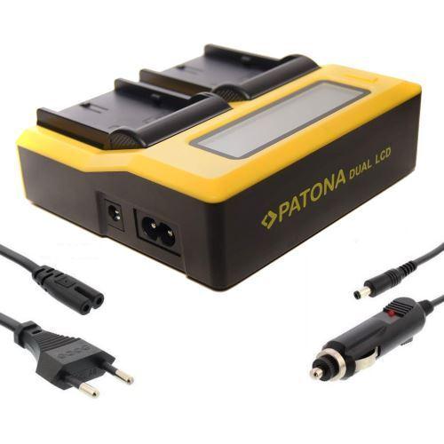 Patona dual doble cargador set para batería lp-e6 lpe6 lp-e6n lpe6n dualcharger