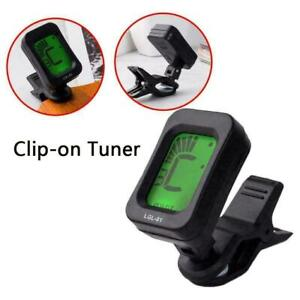 LCD CLIP ON CHROMATIC ACOUSTIC ELECTRIC GUITAR BASS BANJO UKULELE TUNER G4 N1O