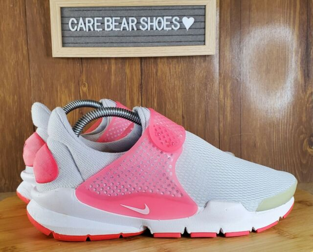 Nike Sock Dart GS Running Shoes Pure Platinum Pink 904277 001 Sz 7Y WMNS 8.5