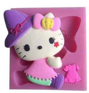 Large Hello Kitty Silicone Mould Fondant Birthday Cake Topper