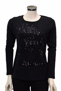 T-shirt-nera-donna-manica-lunga-Deha-girocollo