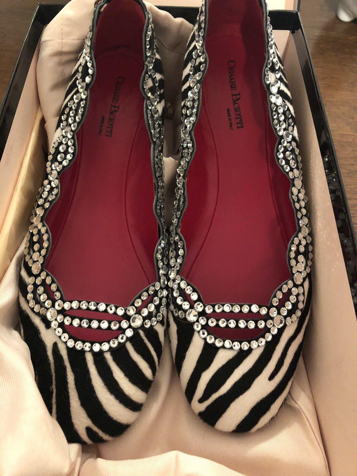 Fashion Allert  New Ballerine Cesare Paciotti size 37 , swarovski, suola rossa